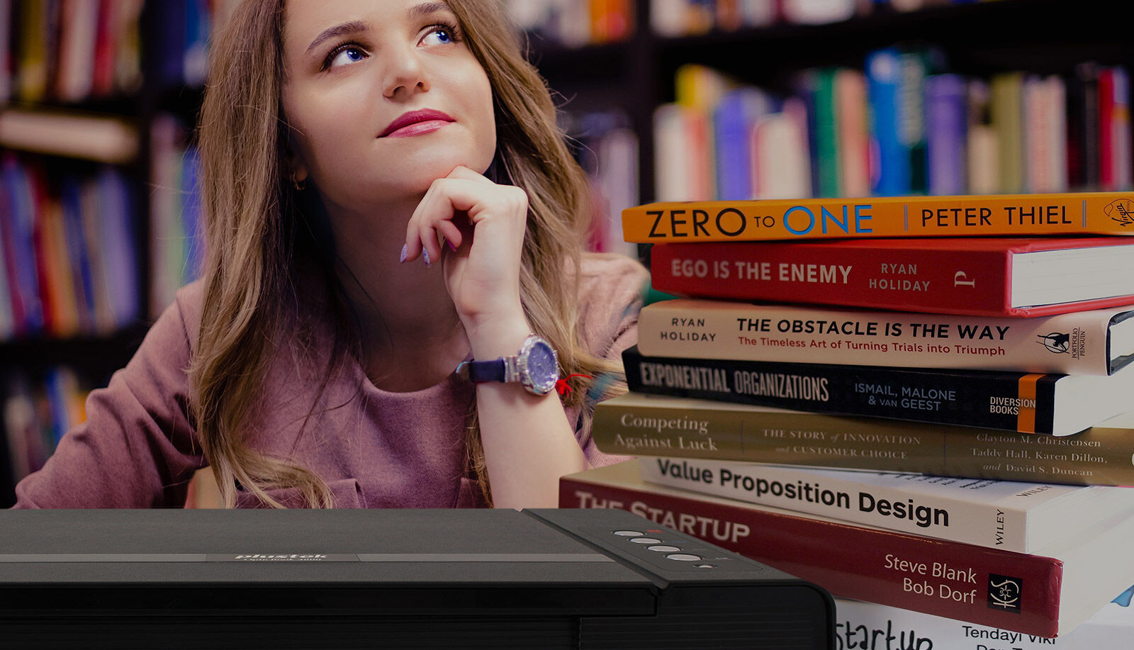 The Plustek OpticBook 4800 helps you create, scan and store thick books with ease.