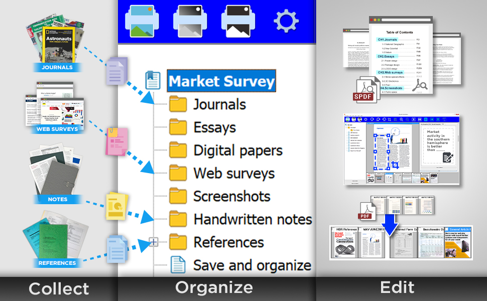 The BookMaker digitizing and organized your books and reference documents easily.