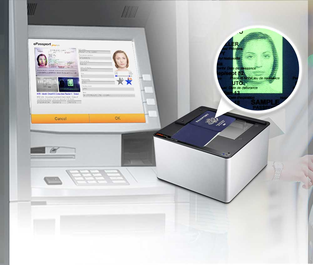 The SecureScan X200 is ideal for integration into automatic border security kioksks, e-Gates, etc.