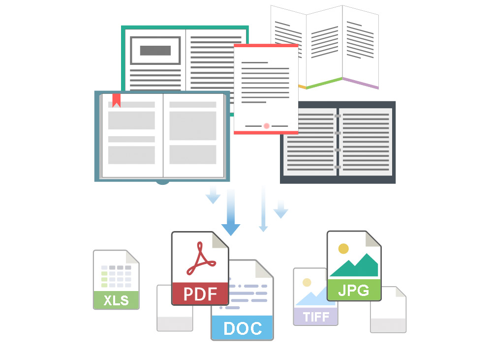 Convert scanned books and paper documents into searchable PDF,ePun and Microsoft Office file formats