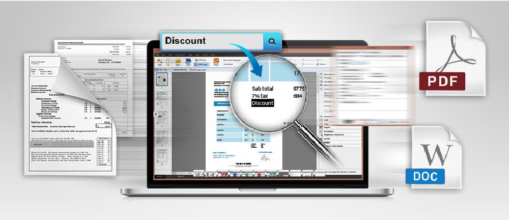 El software abbyy finereader integrado le permite transformar su documento en editable y buscable