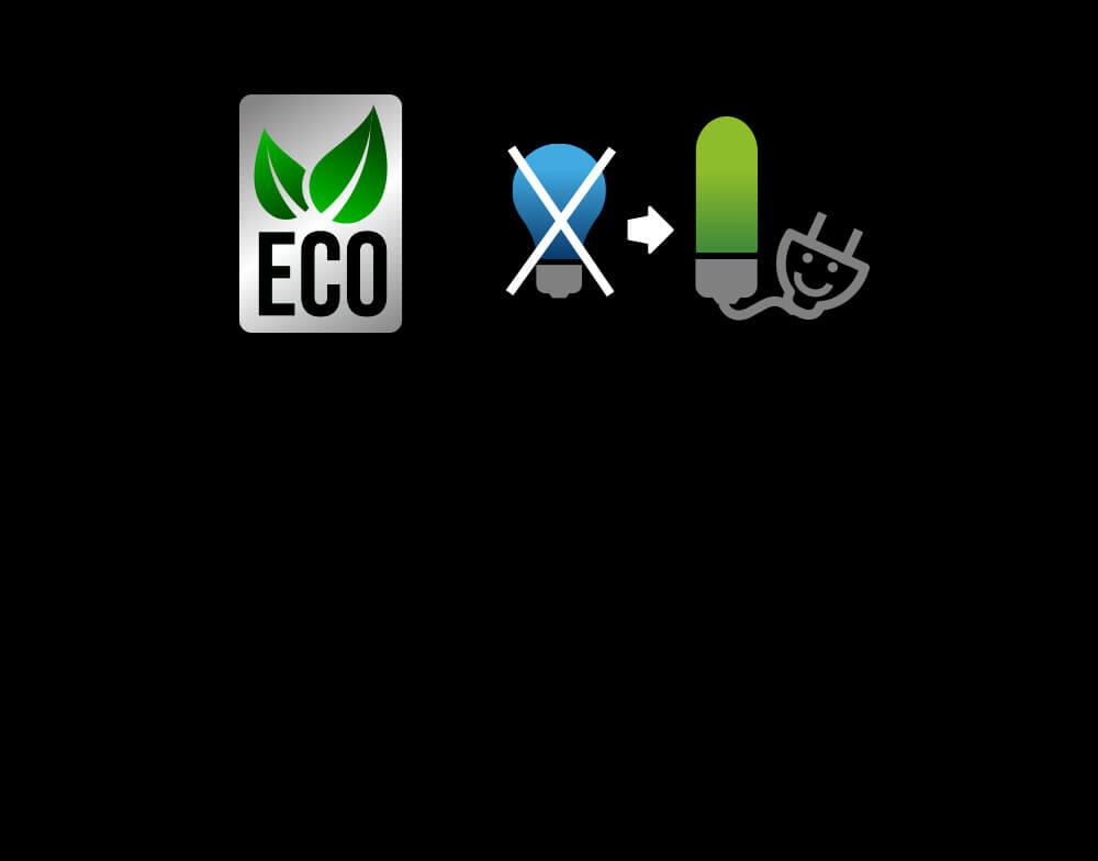 La fuente de iluminación LED ofrece una iluminación más uniforme a la vez que usa menos electricidad y es más cuidadosa con el medio ambiente