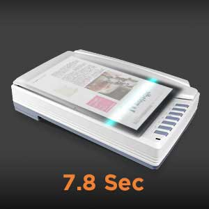 Scan A3 Color and Black&White in 7.8 Sec