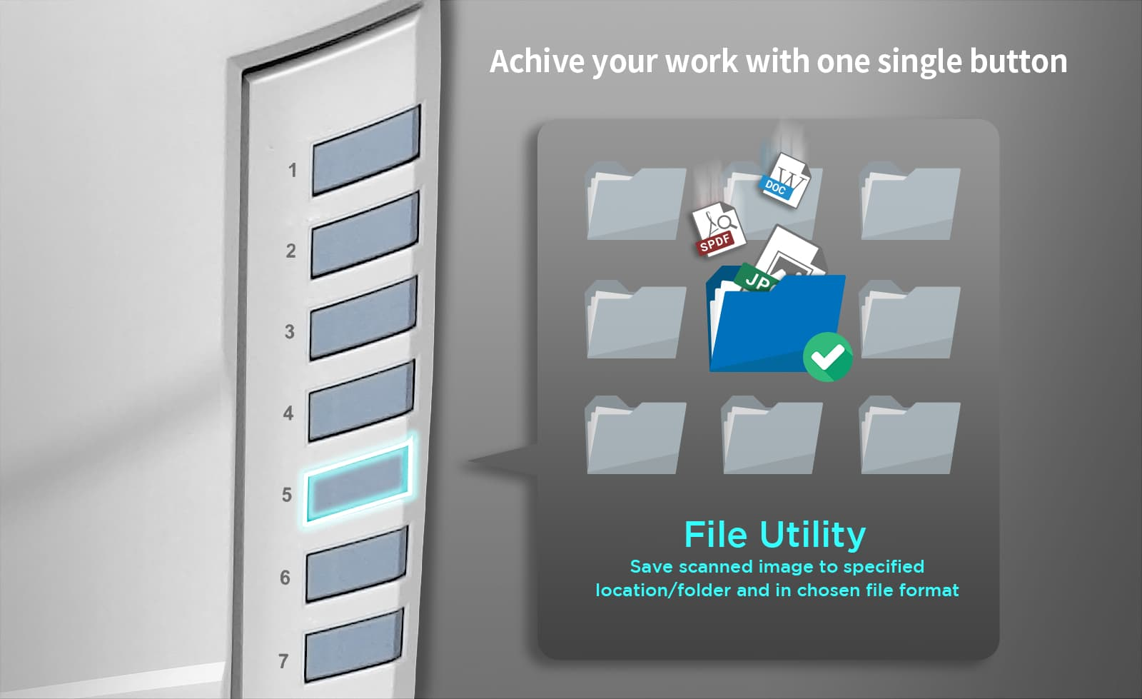 File button: Save directly to specific folder
