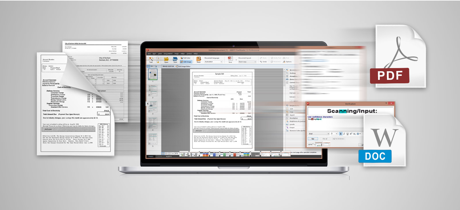 optical character recognition technology integrated ABBYY FineReader Sprint