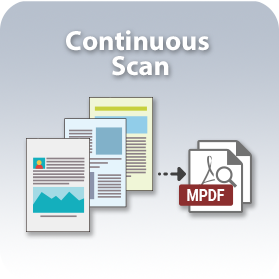 Scan multiple pages into a single PDFfile.