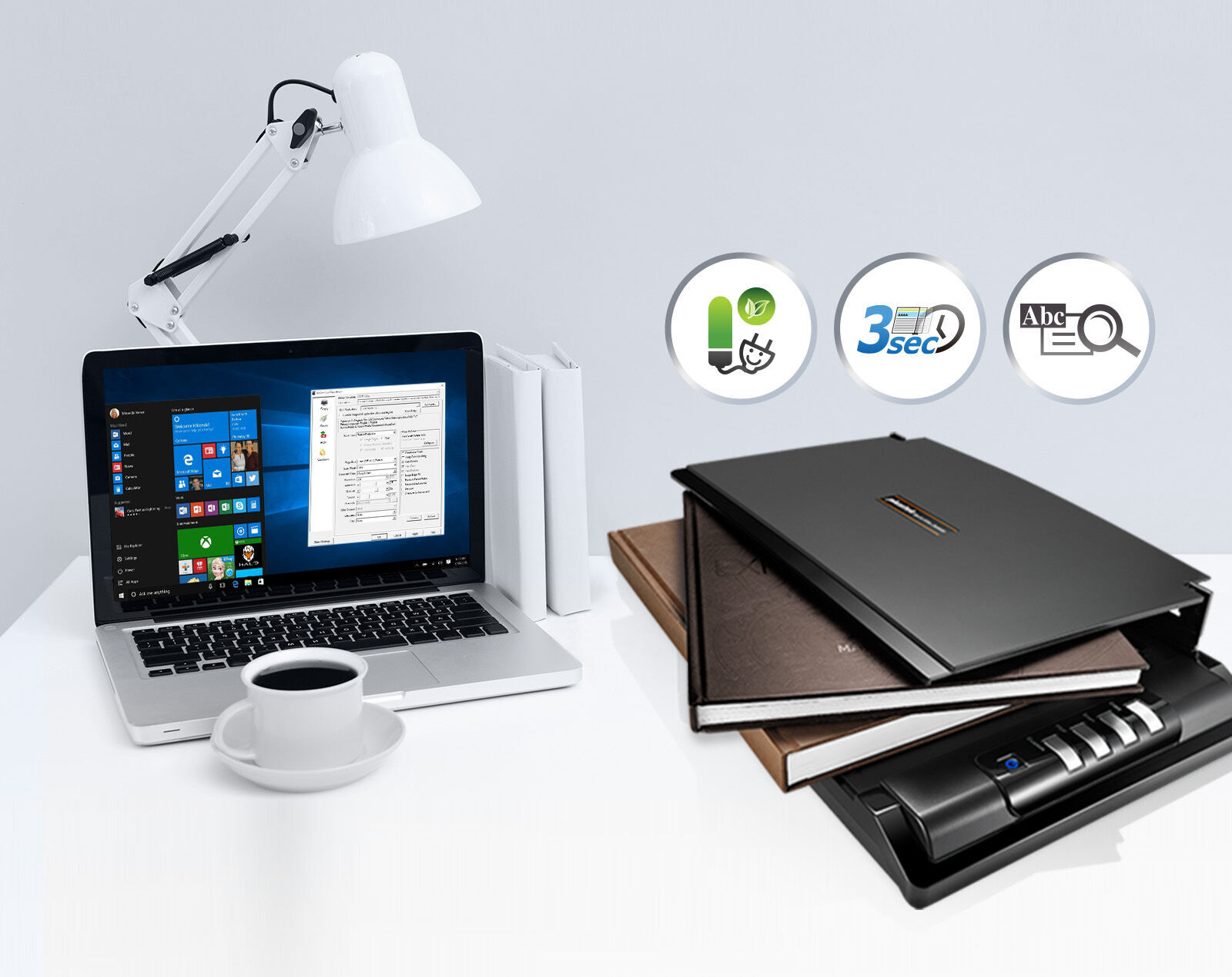 OpticSlim 2680H has the removable lid to accommodate bulky items and books.