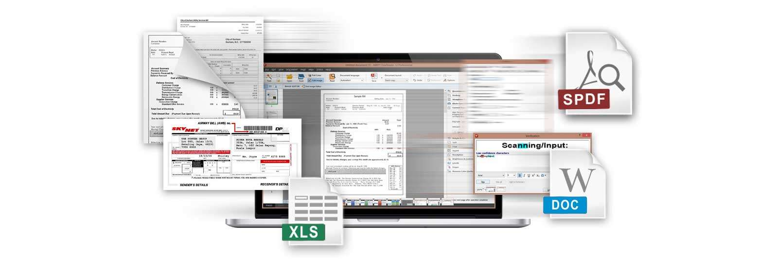 The OpticSlim 550S includes OCR function (powered by ABBYY) that helps to convert scanned paper documents such as receipts/invoice/delivery notes into searchable PDF.