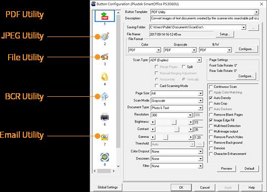button configuration management