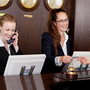 Hotels front desk