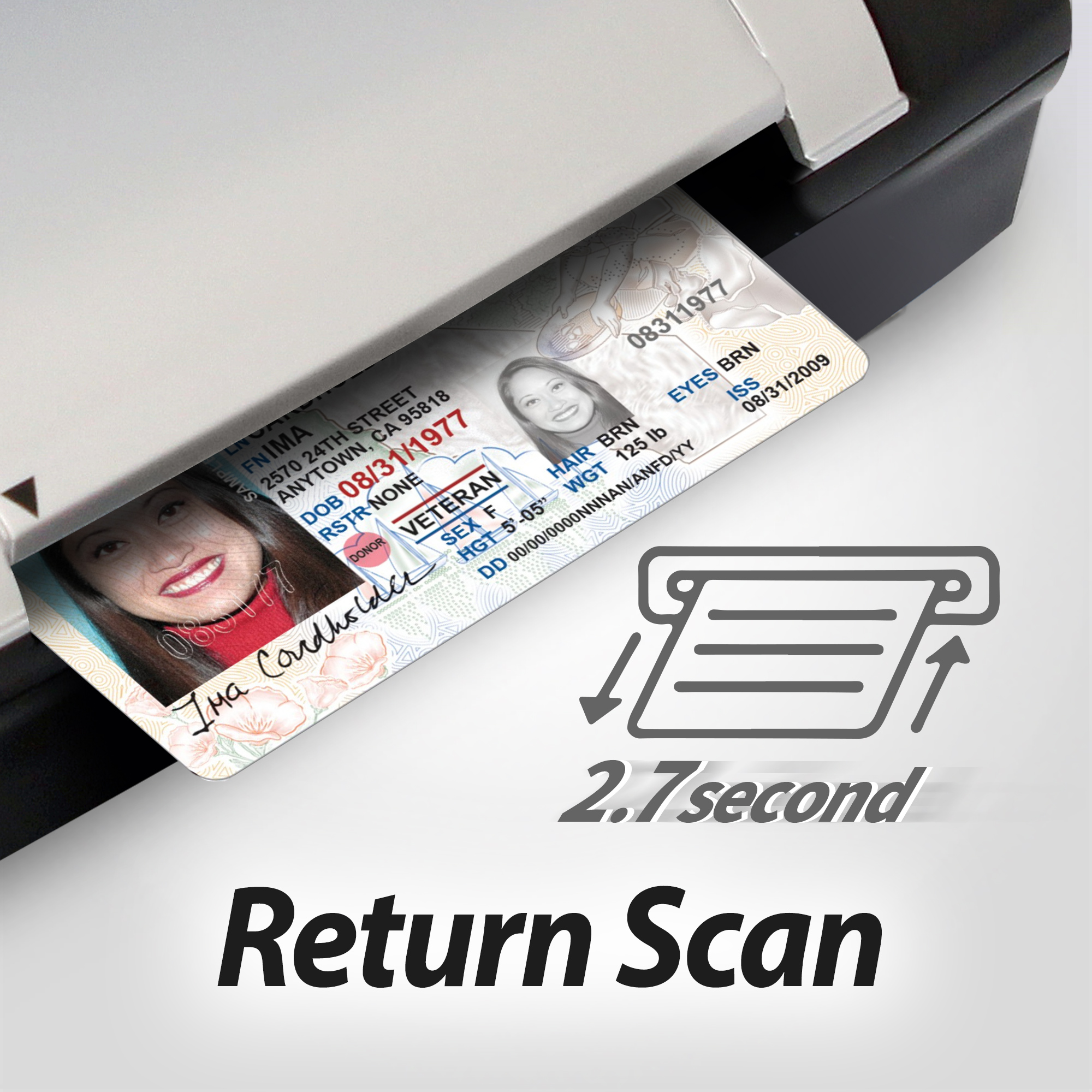 Return ID cards after scanning