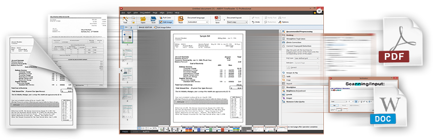 Abbyy FineReader makes it easier to digitalize, retrieve, edit and share on A6 width document