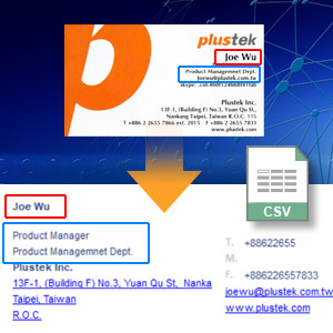 Auto capture the business card information