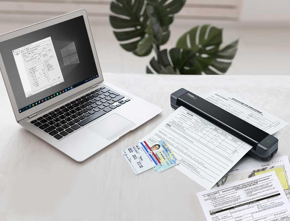 The Plustek MobileOffice S410 Plus is compact and lightweight design for organizing and digitizing document on the go.