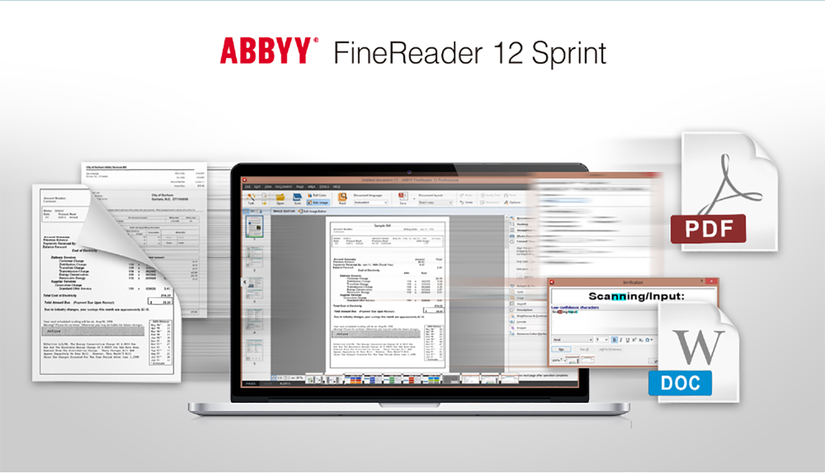 bundled ocr software to transfer document into editable and searchable