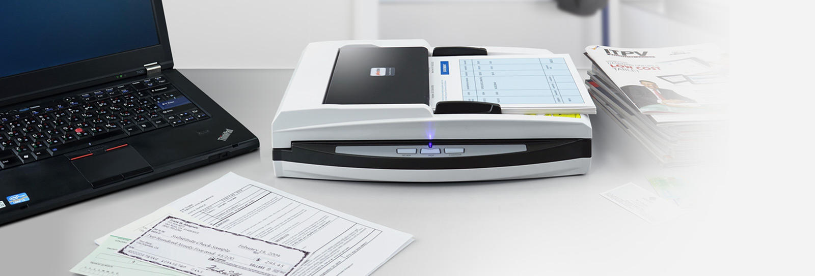 plustek offers this scanner for office who need to scan with fragile and unbreakable document, also want to have automatic document feeder capability