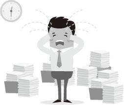 quá nhiều tài liệu giấy cần xử lý và tìm kiếm